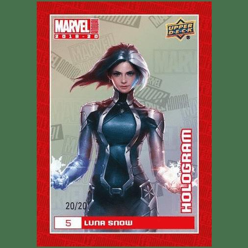 2019 20 Upper Deck Marvel Annual Trading Cards Base Hologram Luna Snow