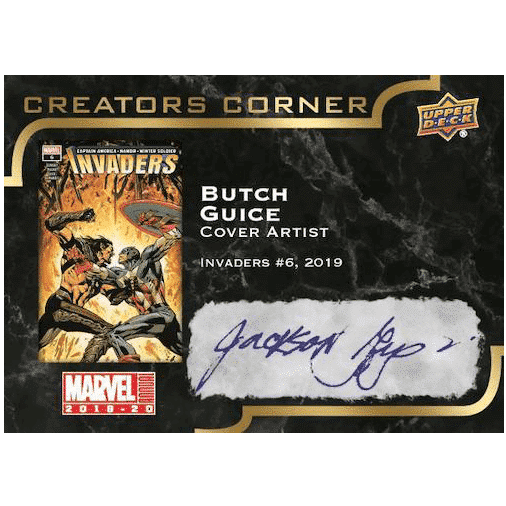 2019 20 Upper Deck Marvel Annual Trading Cards Creators Corner Autograph Butch Guice