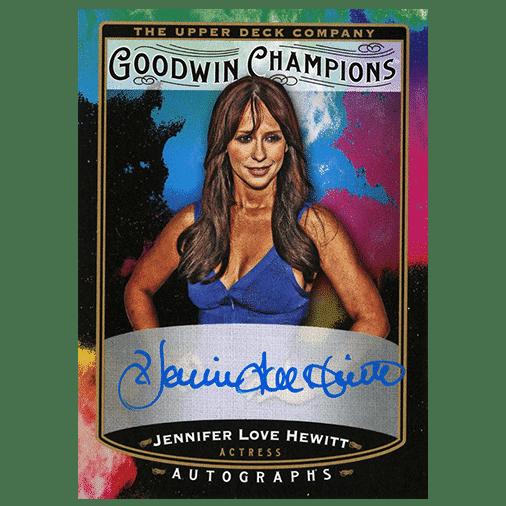 2019 Upper Deck Goodwin Champions Splash of Color Autographs Jennifer Love Hewitt