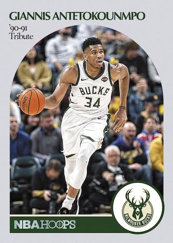 2020 21 Panini NBA Hoops Basketball Cards Hoops Tribute 90 91 Giannis