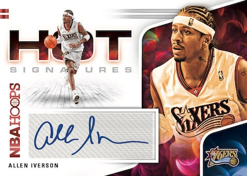 2020 21 Panini NBA Hoops Basketball Cards Hot Signatures Allen Iverson