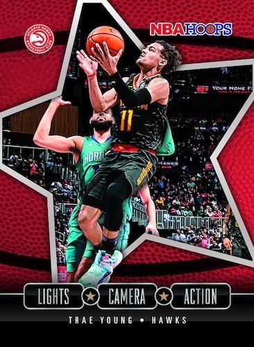2020 21 Panini NBA Hoops Basketball Lights Camera Action Trae Young