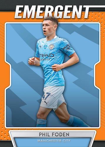 2020 21 Panini Prizm Premier League Soccer Cards Emergent Orange Prizms Phil Foden