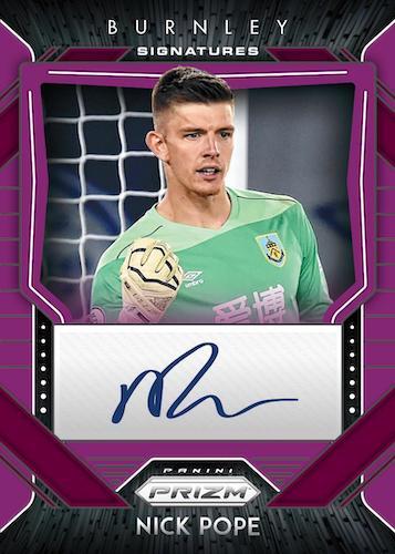 2020 21 Panini Prizm Premier League Soccer Cards Signature Purple Prizms Nick Pope Auto