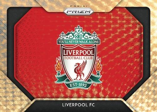 2020 21 Panini Prizm Premier League Soccer Cards Team Logos Gold Power Prizms Liverpool