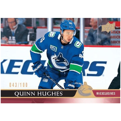 2020 21 Upper Deck Series 1 Hockey Cards Base Quinn Hughes UD Exclusives