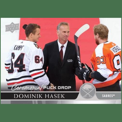 2020 21 Upper Deck Series 1 Hockey Cards Ceremonial Puck Drop Hasek