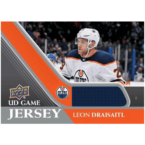 2020 21 Upper Deck Series 1 Hockey Cards UD Game Jersey Leon Draisaitl