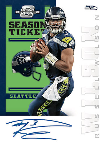 2020 Panini Contenders Optic Football NFL Cards 2012 Contenders Tribute Autographs Russell Wilson
