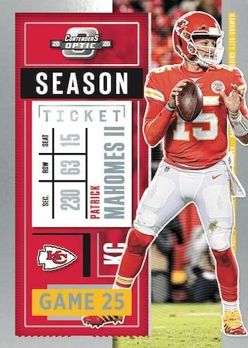 2020 Panini Contenders Optic Football NFL Cards Base Seaon Ticket Patrick Mahomes