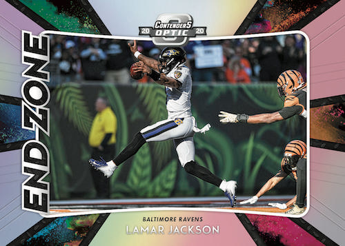 2020 Panini Contenders Optic Football NFL Cards End Zone Lamar Jackson