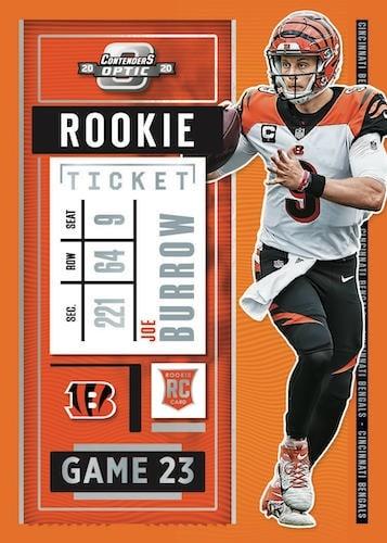 2020 Panini Contenders Optic Football NFL Cards Rookie Ticket Joe Burrow RC