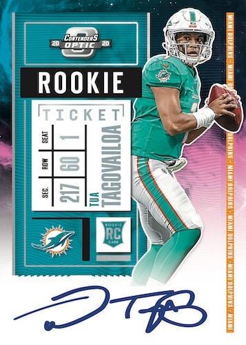 2020 Panini Contenders Optic Football NFL Cards Rookie Ticket RPS Autographs Nebula Tua Tagovailoa RC