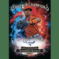 2020 Upper Deck Goodwin Champions Trading Cards Goodwin Splash of Color Autographs Wander Franco