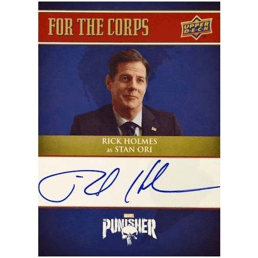 2020 Upper Deck The Punisher Season 1 Trading Cards For the Corps Autographs Rick Holmes as Senator Stan Ori