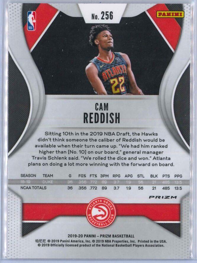 Cam Reddish 2 Panini Prizm 2019 20 Base RC Silver 2 scaled