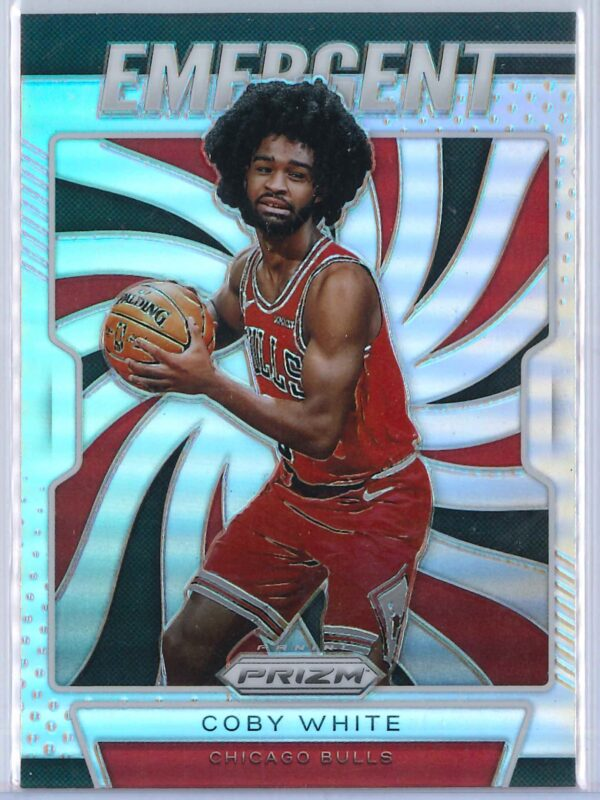 Coby White 2 Panini Prizm 2019 20 Emergent Rookie Silver 1 scaled