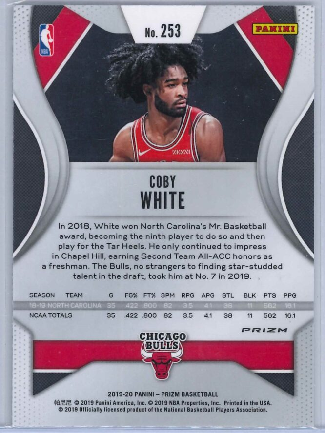 Coby White Panini Prizm 2019 20 Base RC Green 2 scaled