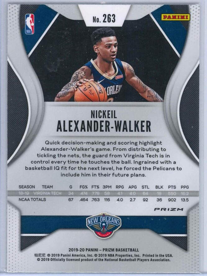 Nickeil Alexander Walker Panini Prizm 2019 20 Base RC Red Ice 2 scaled