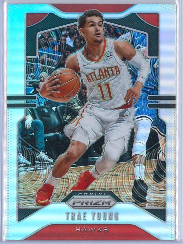 Trae Young 1 Panini Prizm 2019 20 Base 2nd Year Silver 1 scaled