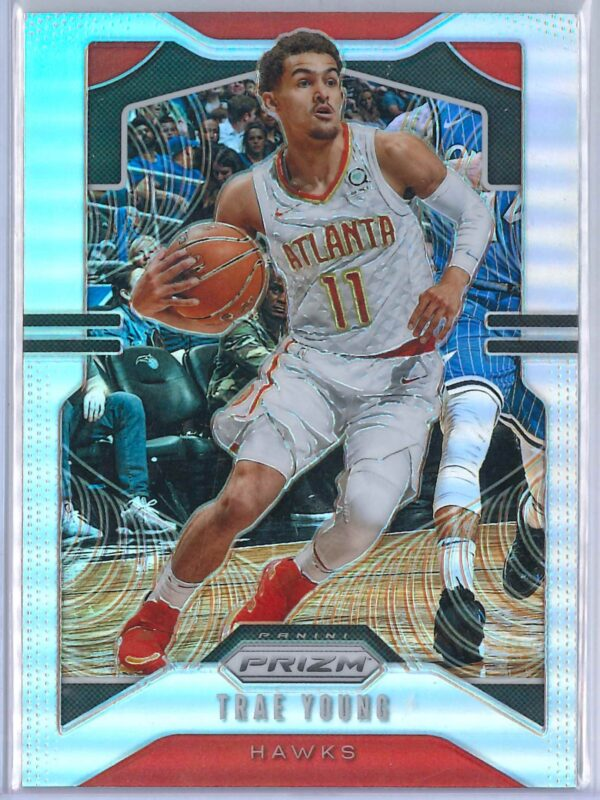 Trae Young 2 Panini Prizm 2019 20 Base 2nd Year Silver 1 scaled