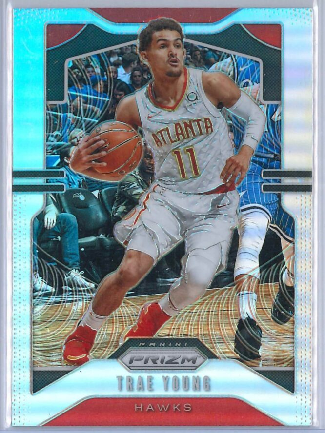 Trae Young 3 Panini Prizm 2019 20 Base 2nd Year Silver 1 scaled