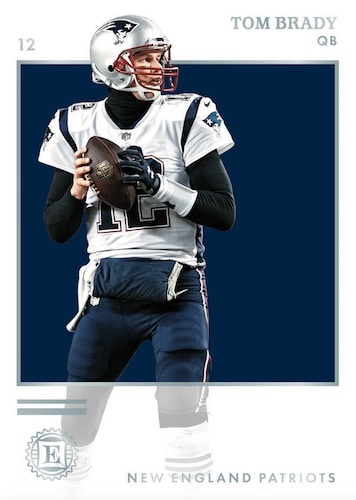 2019 Panini Encased Football NFL Cards Base Tom Brady