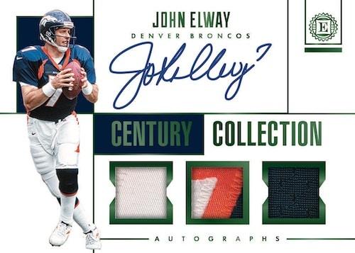 2019 Panini Encased Football NFL Cards Century Collection Auto Relic John Elway
