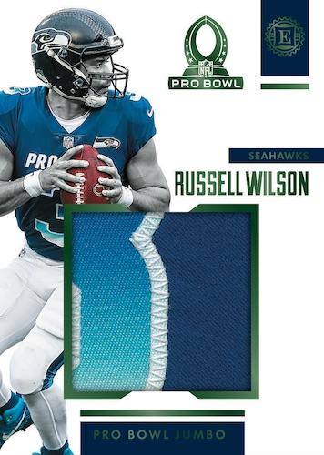 2019 Panini Encased Football NFL Cards Pro Bowl Jumbo Jerseys Russell Wilson