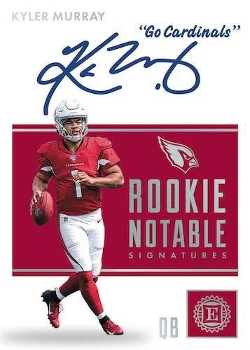 2019 Panini Encased Football NFL Cards Rookie Notable Signtures Kyler Murray
