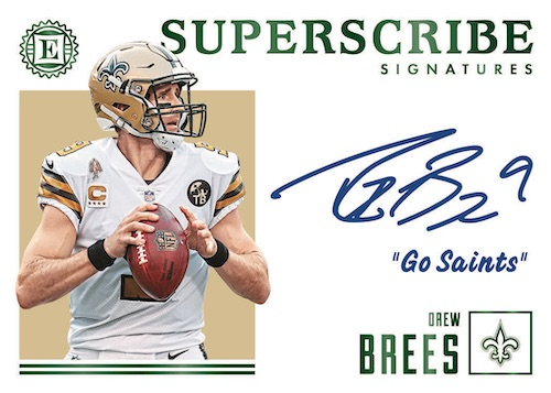 2019 Panini Encased Football NFL Cards Subscribe Signatures Drew Brees