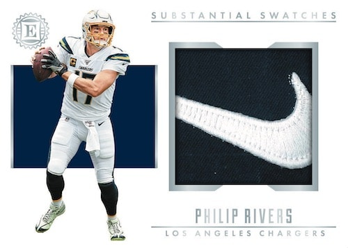 2019 Panini Encased Football NFL Cards Substanial Swatches Philip Rivers