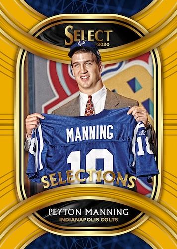 2020 Panini Select Football Cards Select1ons Gold Prizm Peyton Manning