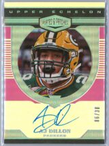 AJ Dillon Panini Plates and Patches 2020 Upper Echelon Rookie Auto 0630 1 scaled