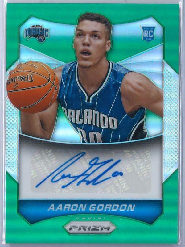 Aaron Gordon Panini Prizm 2014 15 Auto Green 1 scaled