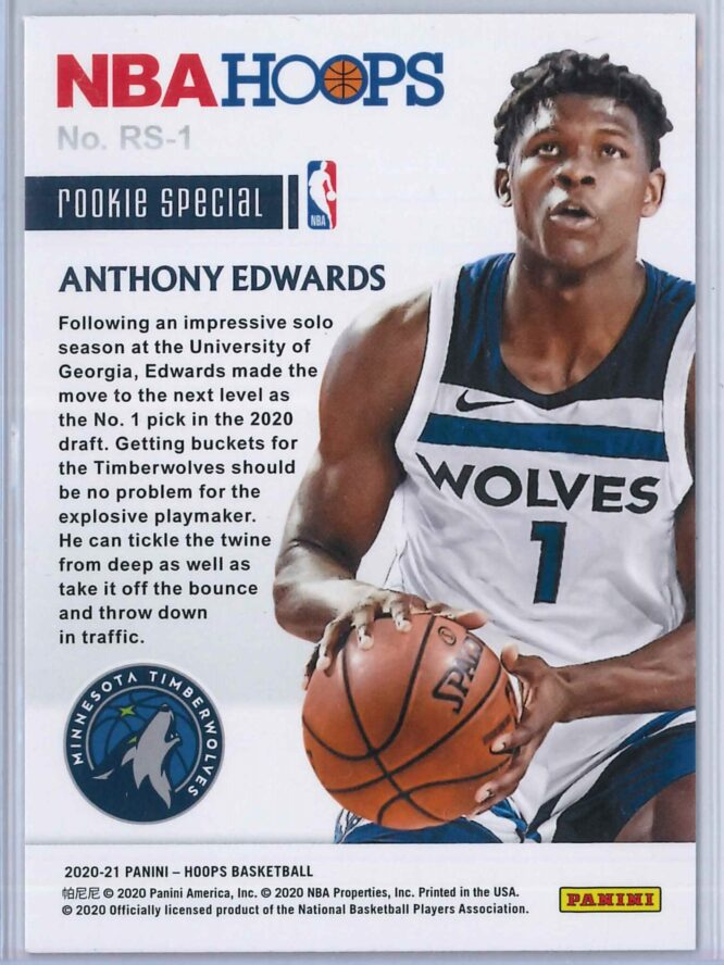 Anthony Edwards Panini Hoops 2020 21 Rookie Special 2 scaled