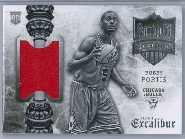 Bobby Portis Panini Excalibur 2015 16 Knight School RC Patch Rookie Patch 1 scaled