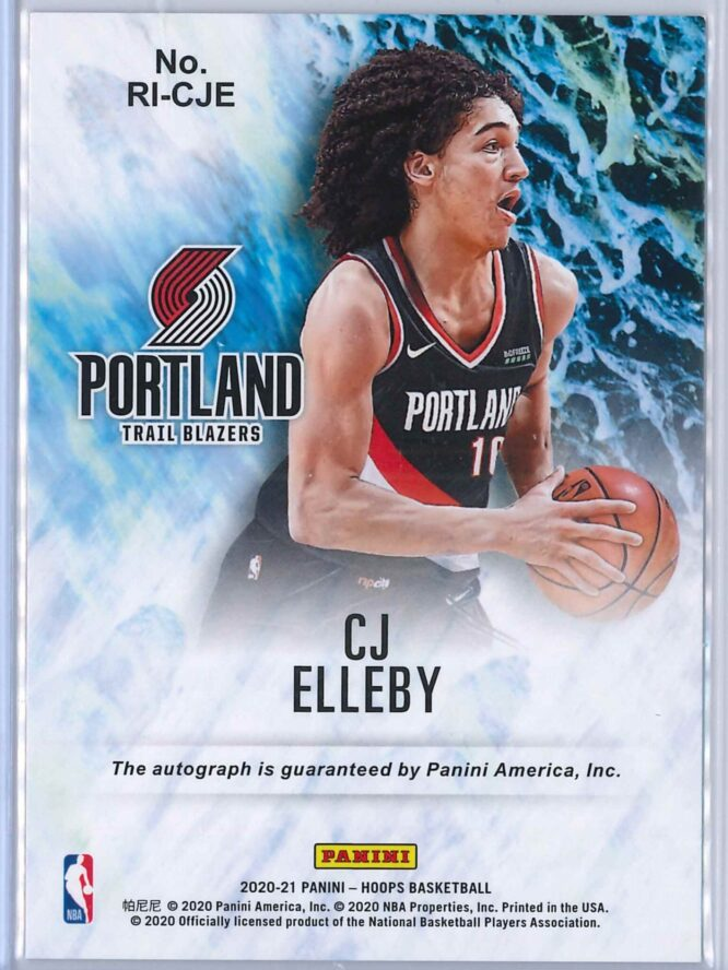 CJ Elleby Panini Hoops 2020 21 Rookie Ink RC Auto 2 scaled