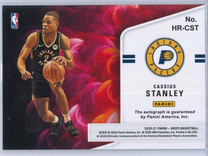 Cassius Stanley Panini Hoops 2020 21 Hot Signatures Rookie RC Auto 2 scaled