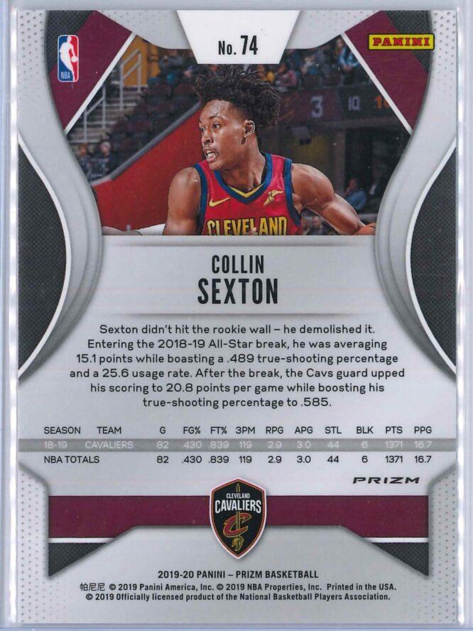 Collin Sexton 1 Panini Prizm 2019 20 Base 2nd Year Silver 2 scaled
