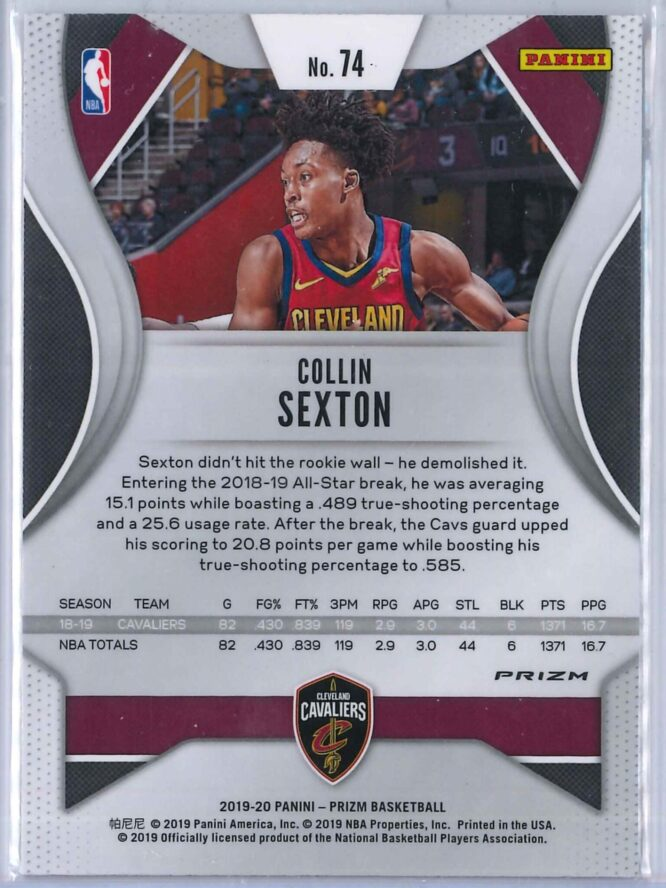 Collin Sexton Panini Prizm 2019 20 Base 2nd Year Red White Blue 2 scaled