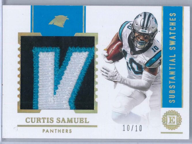 Curtis Samuel Panini Encased 2020 Substantial Swatches Gold 1010 1 scaled