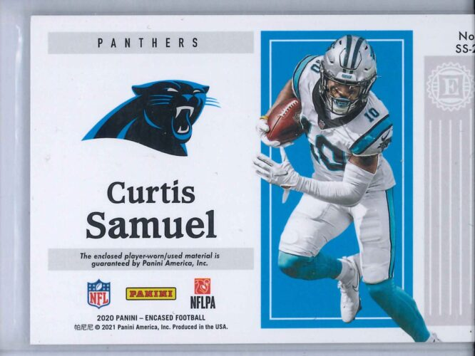 Curtis Samuel Panini Encased 2020 Substantial Swatches Gold 1010 2 scaled