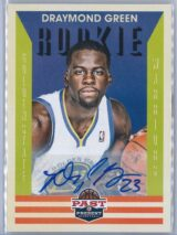 Draymond Green Panini Past and Present 2012 13 Rookie Auto 1 scaled