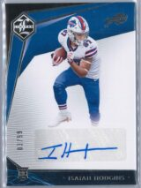 Isaiah Hodgins Panini Limited 2020 Rookie Auto 0399 1 scaled