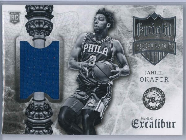 Jahlil Okafor Panini Excalibur 2015 16 Knight School RC Patch Rookie Patch 1 scaled