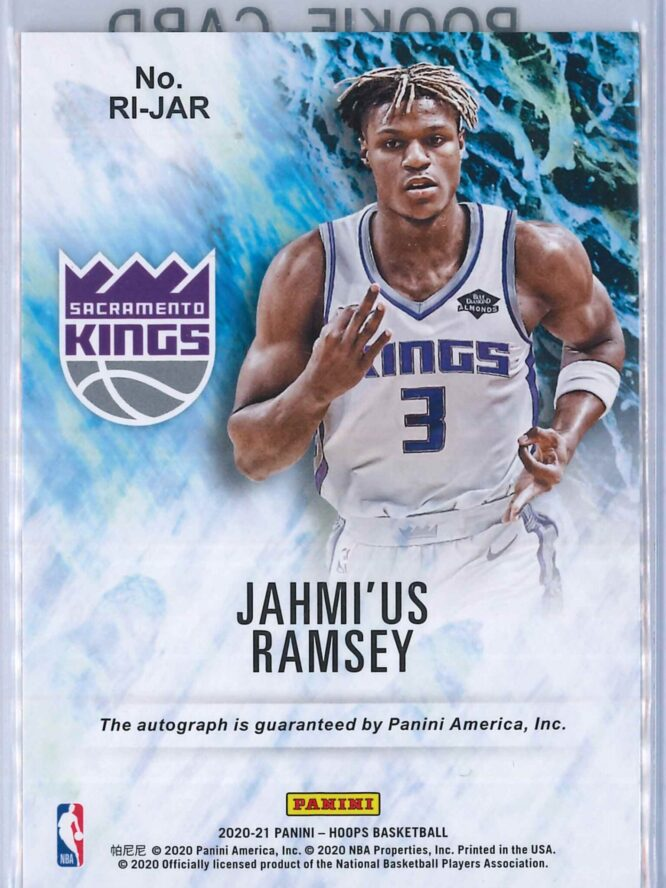 Jahmius Ramsey Panini Hoops 2020 21 Rookie Ink RC Auto 2 scaled