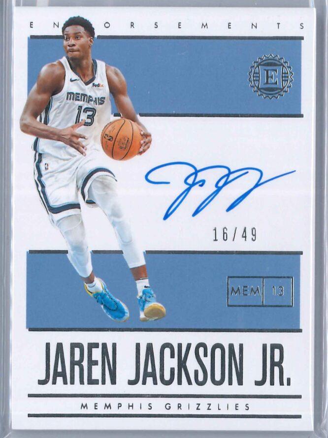 Jaren Jackson Jr. Panini Encased 2019 20 Auto Endorsements 1649 1 scaled
