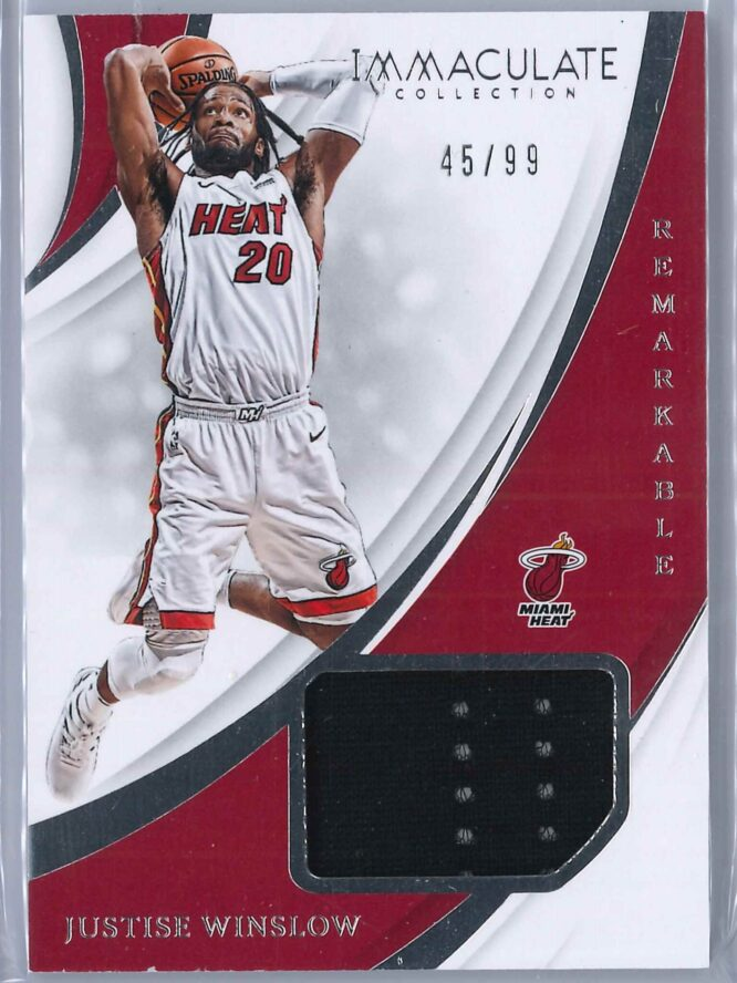 Justice Winslow Panini Immaculate 2018 19 Remarkable 4599 1 scaled