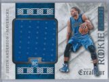 Justin Anderson Panini Excalibur 2015 16 Rookie Rampage 1049 Rookie Patch 1 scaled